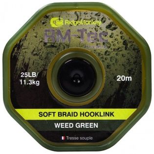 Ridge Monkey- RM-Tec Soft Braid Hooklink 25lb ZIELONY