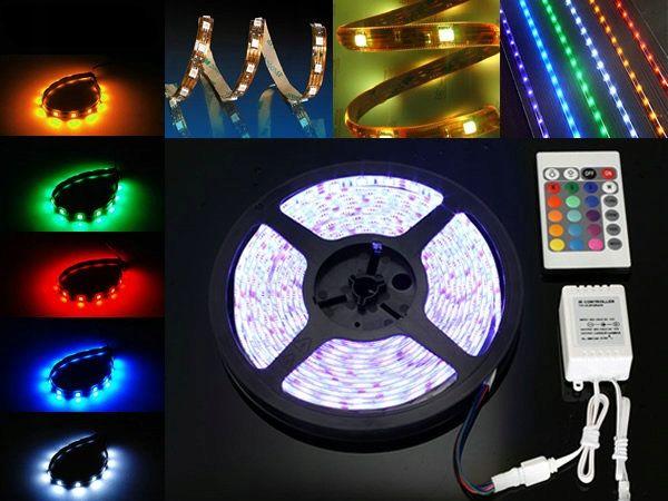 WODOODPORNA TAŚMA RGB 300 LED 5050 5m + WHITE zdjęcie 1