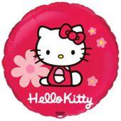 Balon foliowy HELLO KITTY okrągły na hel 45 cm