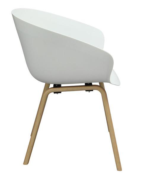 MODESTO fotel ANGEL biały - polipropylen, podstawa bukowa zdjęcie 3