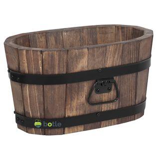 Drewniana donica kwietnik 40x22x21 cm Orzech