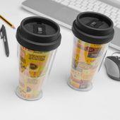 Kubek do kawy z pokrywką i podwójną ścianką zdjęcie 5