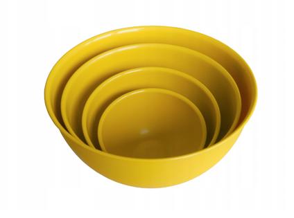 ZESTAW 4 PLASTIKOWYCH MISEK curry - Bąble - PRODUCENT