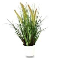Sztuczna trawa roślina w doniczce ozdobna dekoracyjna do salonu kuchni zielona TR-DOG-046-I