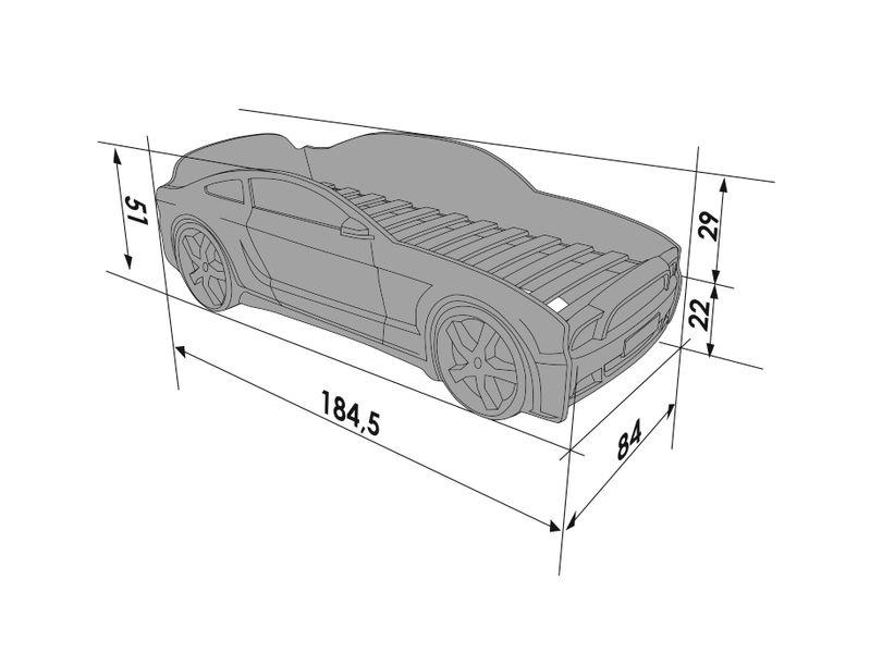 Łóżko AUTO samochód - Mebelev MG 3D basic CZERWONE zdjęcie 3