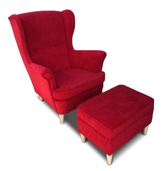 Fotel Uszak CHRIS  z podnóżkiem otwieranym zdjęcie 2