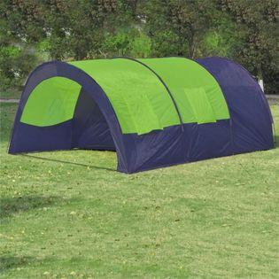 Namiot turystyczny 6-osobowy niebiesko-zielony VidaXL