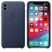 Apple Leather Case - Skórzane etui do iPhone Xs Max (nocny błękit)