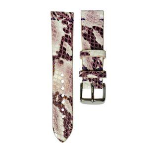 Pasek do zegarka 20mm biało bordowy wąż  - polskie - Lamato
