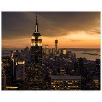 OBRAZ DRUKOWANY  Miasto Nowy Jork o świcie 50x40