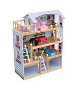 Drewniany domek dla lalek LAURA #ZZ2