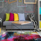 Nowoczesny Dywan Ibiza 02 - multikolor Wymiary - 120 x 170 cm, Kolor - niebieski