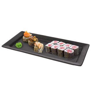 Taca / Talerz Z Czarnej Porcelany Do Sushi 30 X 14 X 2.5Cm Orion