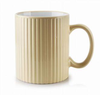 Kubek Ceramiczny 400Ml Sally Stripes Beige Mondex Htps3376