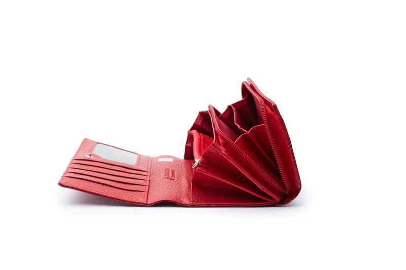 Czerwony skórzany portfel na suwak Zagatto ZG-55288-RS zdjęcie 2