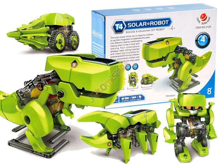 Solarny Dinozaur 4w1 Zabawka edukacyjna ZA1082 zdjęcie 2