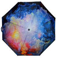 Automatyczna długa parasolka damska seria malarstwo: jesienny sztorm