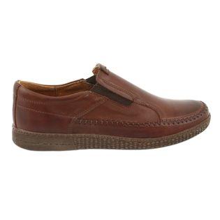 Buty męskie wsuwane brąz Riko 913 r.42
