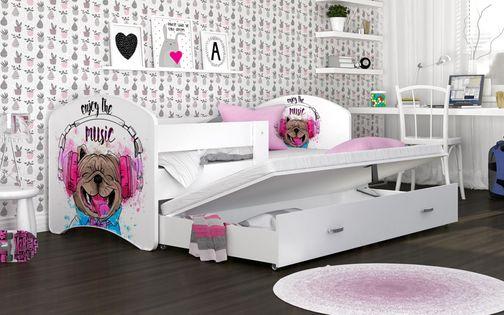 Łóżko 200x90 LUCKY P2 szuflada + materace