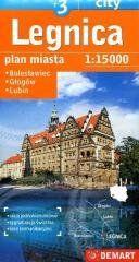Plan miasta Legnica +3 1:15 000 DEMART praca zbiorowa