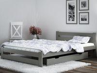 Łóżko 160x200 Sosnowe Szare Stelaż Elastyczny A1