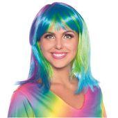 PERUKA kolorowa NEON karnawał włosy NEONOWE