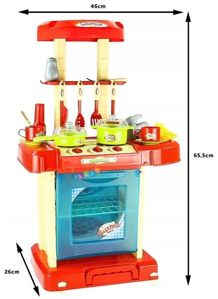 Kuchnia dla dzieci w walizce Piekarnik Zlew Akcesoria kuchenne U07 zdjęcie 5