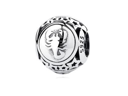 Rodowany srebrny charms do pandora znak zodiaku skorpion srebro 925 BEAD19