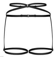 Promees harness SUSSAN ozdobna uprząż Rozmiar - L/XL, Kolor - Czarny