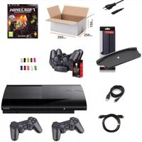 PlayStation 3 + 2 PADY + MOVE + 3 GRY + MINECRAFT