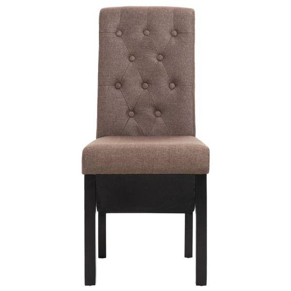 Krzesła Stołowe, 2 Szt., Brązowe, Tapicerowane Tkaniną zdjęcie 4