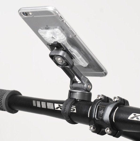 Uchwyt do telefonu na kierownice motor skuter rower mocny sztywny ALU zdjęcie 8