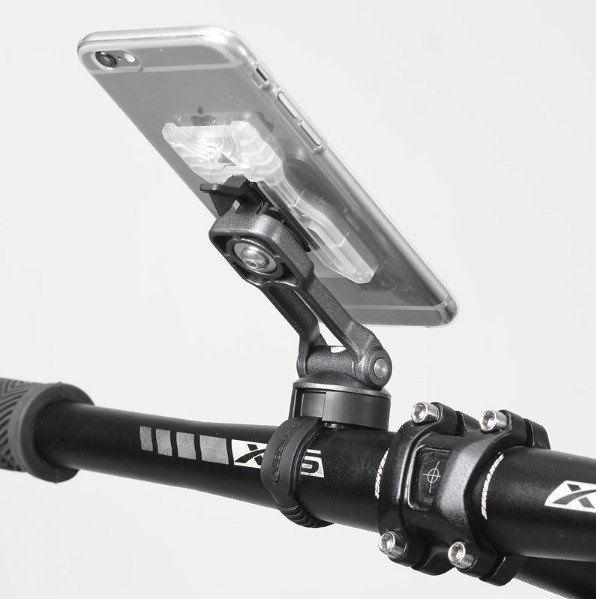 Uchwyt do telefonu na kierownice motor skuter rower mocny sztywny ALU na Arena.pl