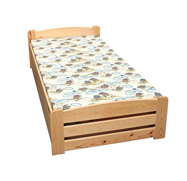 Łóżko Antoś z pojemnikiem na pościel  - łóżko z drewna sosnowego. zdjęcie 1