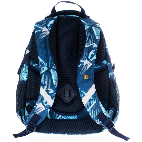 Plecak szkolny młodzieżowy Astra Hash HS-17, niebieskie trójkąty zdjęcie 2
