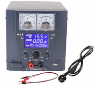 Zasilacz labolatoryjny WEP 1505D DC 0-15V 5A USB