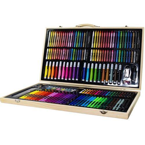 Poważnie Zestaw artystyczny 180el w drewnianej walizce • Arena.pl XH35
