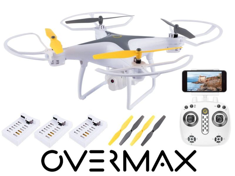 OVERMAX DRON X-BEE 3.3 WIFI OVERMAX, KAMERA FPV LED 3 BATERIE na Arena.pl