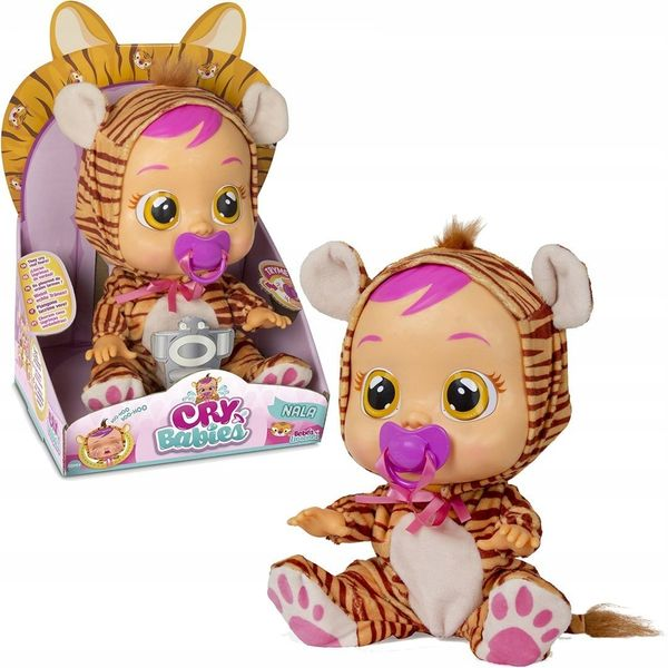 TM TOYS CRY BABIES Płaczący bobas NALA Tygrysek zdjęcie 1