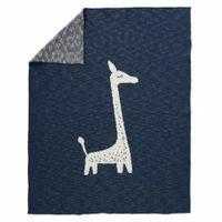 Fresk tkany kocyk z bawełny organicznej 100 x 150 cm żyrafa