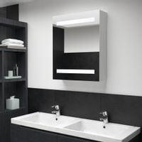 Szafka łazienkowa z lustrem i LED, 50 x 14 x 60 cm