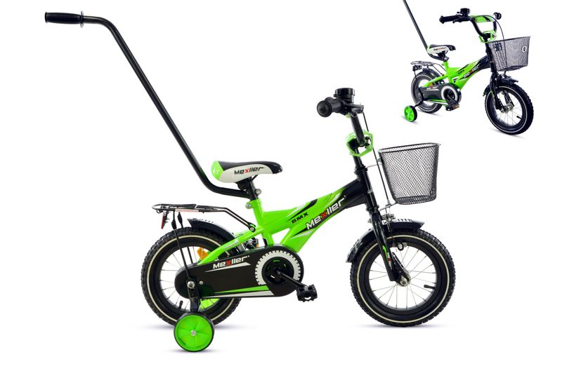 35c0bc6a532f Rower rowerek dla dziecka BMX Mexller 12 czarno-zielony 2-5 lat OKAZJA  zdjęcie