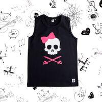 Rockowa czarna bokserka Pirate Skull Girl Mia Rock 80/86