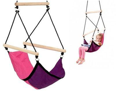 Huśtawka dziecięca – wiszący fotel Kid's Swinger pink