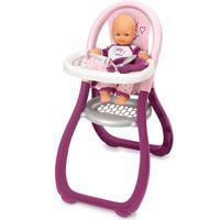 Krzesełko Karmienia Baby Nurse Lalek Smoby Zestaw