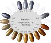 Lakier hybrydowy Gold Silver Silcare Color IT Premium Złoty Srebrny 6g