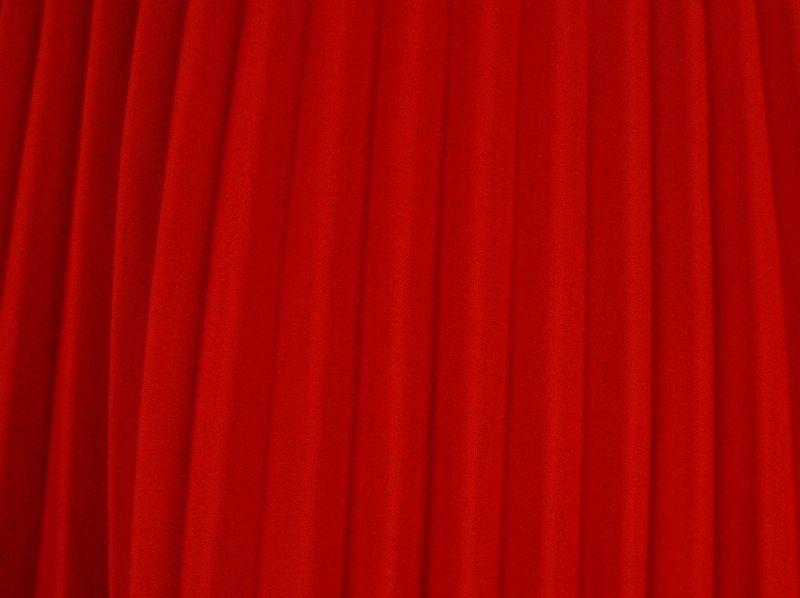 c8d2b26c Włoska Spódnica z Plisami z Gumką w Pasie - Czerwona Rozmiar - One size