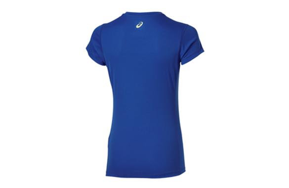 Koszulka Asics Graphic SS 132111 8091 niebieska Rozmiar - S zdjęcie 2