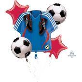 Bukiet balonów foliowych Piłka Nożna 5 szt