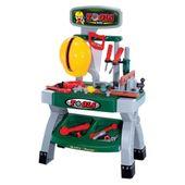 Warsztat majsterkowicza dla dzieci + kask i narzędzia 49 elementów Z03